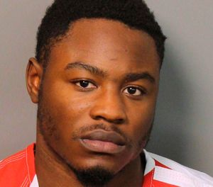 """This Monday, Dec. 3, 2018 booking photograph provided by the Jefferson County Sheriff's Office in Birmingham, Ala., shows Erron Brown, who is charged with attempted murder in a shooting at a shopping mall on Thanksgiving. Police in Hoover, Ala., shot and killed another black man, Emantic """"EJ"""" Bradford Jr., mistaking him for the shooter after the shots rang out. (AP Photo/Jefferson County Sheriff's Office)"""