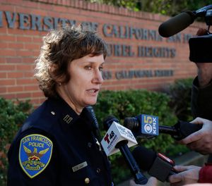 Authorities say bomb threats sent to dozens of schools, universities and other locations across the U.S. appear to be a hoax. (AP Photo/Jeff Chiu)