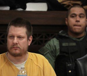 In this Jan. 18, 2019 file photo, former Chicago police Officer Jason Van Dyke attends his sentencing hearing at the Leighton Criminal Court Building in Chicago, for the 2014 shooting of Laquan McDonald. (Antonio Perez/Chicago Tribune via AP, Pool, File)