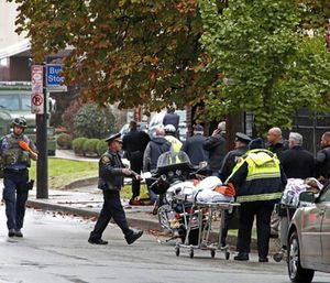Eleven people were killed and six people, including four officers, were injured in a shooting at the Tree of Life Synagogue. (Photo/AP)