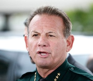 Broward County Sheriff Scott Israel speaks during a news conference at Fort Lauderdale–Hollywood International Airport, Friday, Jan. 6, 2017, in Fort Lauderdale, Fla. (AP Photo/Wilfredo Lee)