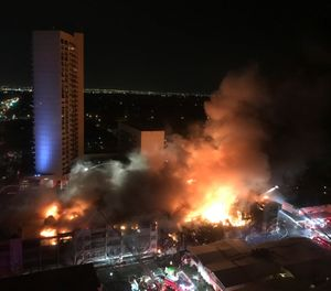 Three firefighters narrowly escaped significant injury or death on Nov. 27, 2018. (Photo/AP)