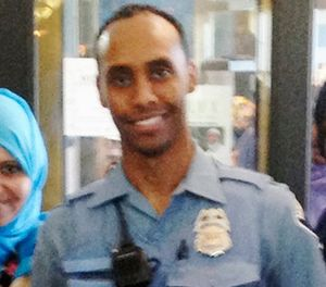 In this May 2016 image provided by the City of Minneapolis, police officer Mohamed Noor poses for a photo at a community event welcoming him to the Minneapolis police force. (City of Minneapolis via AP)