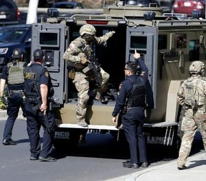 Technology is advancing the communication and data-gathering capabilities of armored vehicles on a tactical response. (AP Photo/Marcio Jose Sanchez)