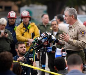 Police officer and 11 civilians killed in California bar shooting. The gunman also killed and unknown number of people were injured.  multiple injuries _ including one officer _ after a man opened fire in Southern California bar late Wednesday. (photo/KABC via AP)