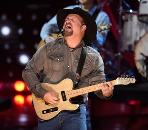 Artist of the decade award winner Garth Brooks performs at the iHeartRadio Music Awards on Thursday, March 14, 2019, at the Microsoft Theater in Los Angeles. (Photo by Chris Pizzello/Invision/AP)