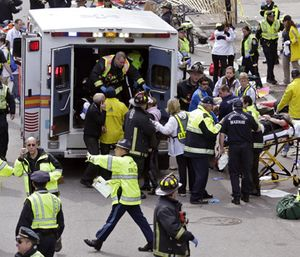 As the fifth anniversary of the Boston Marathon bombing approaches, Cambridge Fire Department officials say they are ready for potential terrorist activity. (Photo/AP)