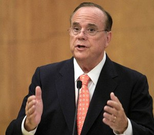 In this Oct. 19, 2011 file photo, former State Treasurer Bill Lockyer testifies before a joint committee legislative hearing at the Capitol in Sacramento, Calif. (AP Photo/Rich Pedroncelli, file)