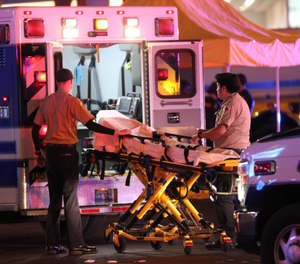 "At the EMS World Expo, Matt Levy, DO, said, ""It's what happens in the first few moments of the response that dictates who is going to survive and who is not.""(Photo/AP)"
