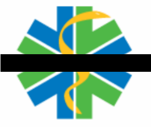 "This black bar through our ""star of life"" mirrors the ""mourning bands"" our paramedics wear on their badges when one of our own passes on (Courtesy Ada County Paramedics)."