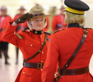 Author Jane Hall pictured her at her daughter's graduation from the Royal Canadian Mounted Police Training Academy. (Photo/Jane Hall)