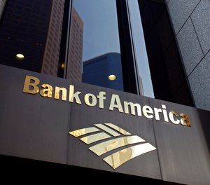 The Bank of America building is shown at the Bank of America Plaza in downtown Los Angeles on Friday Oct.8,2010. (AP Photo/Richard Vogel)