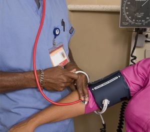 Report an accurate blood pressure for every patient. (Picture CDC/ Amanda Mills)