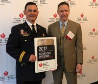 Department receives American Heart Association's highest EMS award