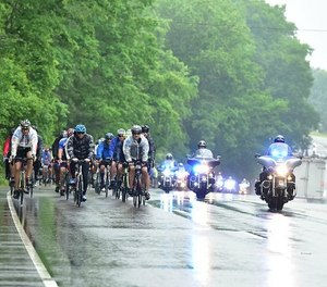 The annual Road to Hope Memorial Bicycle Ride features six routes with the ride culminating in Washington, D.C., during Police Week. (Photo/LEU)