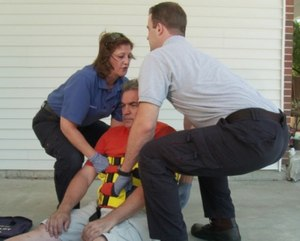 The Binder Lift is an Binders created an ergonomic lifting tool designed to help EMS providers lift patients with less risk of a back injury. (image/Binder Lift)