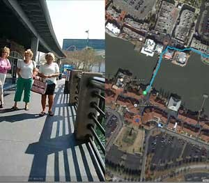 Utility's video viewer software shows the video image along with a map, indicating the location of the shot. (Photo Courtesy of Utility Associates, Inc.)