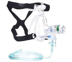 Today's CPAP devices are a fraction of the overall cost, simple in design and are entirely disposable, from the mask all the way to the oxygen connection. (image/Bound Tree Medical)
