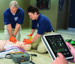 Incorporating feedback devices into adult CPR courses provides the quality and consistency of CPR training, which increases the chance of a successful outcome when CPR is performed. (image/Bound Tree)