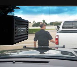An in-camera video system can facilitate de-escalation at a traffic stop. (photo/COBAN Technologies)