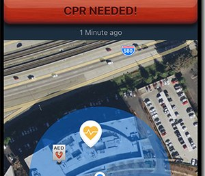 PulsePoint alerts users to cardiac arrests within a quarter mile of their location, so people can provide treatment before paramedics arrive. (Photo/PulsePoint)