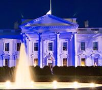 White House goes blue to honor nation's police officers