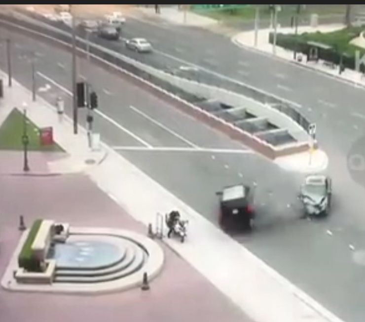 Video: Calif  mayor crashes SUV into LEO, sends him flying into fountain