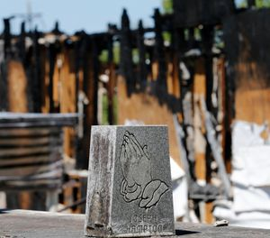 Understand your response area and building construction when responding to a church fire. (AP Photo/Gerald Herbert)