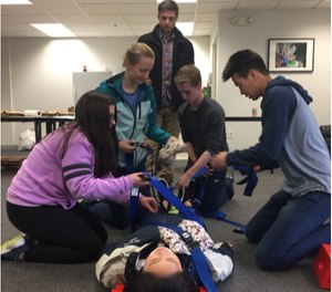 CrimsonEMS, a Harvard-only student-run organization, offers students the opportunity to become certified EMTs. (Photos/Courtesy of CrimsonEMS)