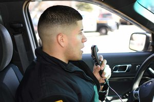 Nuance's Dragon Law Enforcement lets officers keep their eyes up while reporting. (photo/Nuance)