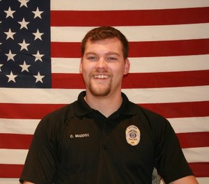 Officer Chase Maddox, whose second child is due any day, was the only one of Locust Grove's 23 officers hired straight out of high school. (Photo/Georgia Bureau of Investigation)