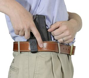 Police officers occasionally work in environments where casual methods of concealment aren't going to get the job done. For these assignments, consider a deep concealment holster like the DeSantis Slim-Tuk. (image/DeSantis)