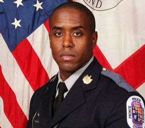 Slain officer Jacai Colson. Michael Ford, who opened fire on a Maryland police station faces a prison sentence when he is sentenced Thursday, Jan. 10, 2019, for his conviction on a murder charge in the friendly-fire killing of Colson, an undercover detective who tried to end the gunman's attack. (Prince George's County Police Department via AP, File)