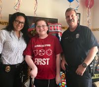 Police, other first responders give boy with disorder a memorable birthday
