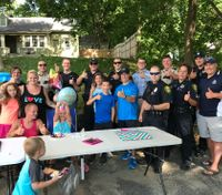Police throw birthday party for 8-year-old girl