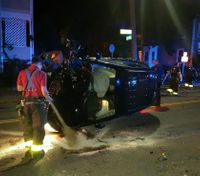 Mass. LEO rescues baby after suspect flips car during pursuit