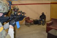 Training day: Law enforcement tactical entry during a drug raid