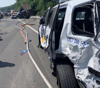 5 firefighters, 3 state troopers injured in a multiple vehicle crash in NJ