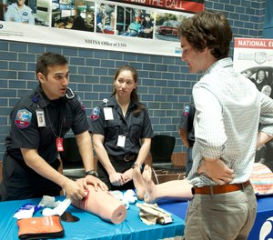 In addition to their usual work of overseeing the National EMS Information System and National 911 Program, shepherding projects like EMS Agenda 2050 and the revision of National EMS Education Standards, serving as a resource on EMS issues for their Federal partners they found themselves teaching their colleagues life-saving skills. (Photo/NHTSA)