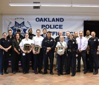 Paramedics honored for helping police officer under attack