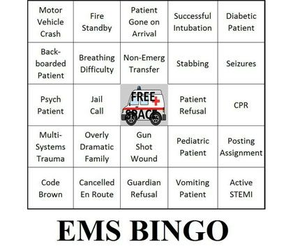 Is Ems Bingo A Big Deal To Emts And Paramedics