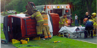 Fire truck driver's role at a vehicle crash