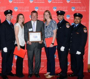 Mr. Wasson was reunited with the first responders who saved his life at the 25th annual Second Chance Ceremony in Brooklyn. (Photo/ New York City Fire Department)