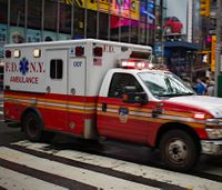 Video catches man vandalizing FDNY ambulances with swastikas