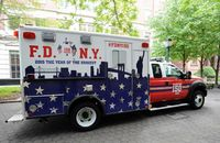FDNY unveils new EMT mascot, ceremonial ambulance for 150th anniversary
