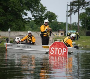 FEMA Federal Emergency Management Agency Like This Page · 18 hrs · Edited ·    Colorado Task Force 1 practices conducting water rescues by boat during a training at Muscatatuck Urban Training Complex. (Photo/ FEMA Federal Emergency Management Agency)
