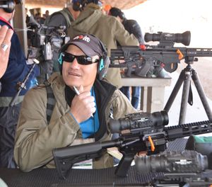Lindsey got to steer rounds with a FLIR PTS536, a compact, weapon-mounted thermal sight with a shot-activated video recording. It proved to have enough sensitivity for shooting cold targets on a cold day. (Photo/Lindsey Bertomen)