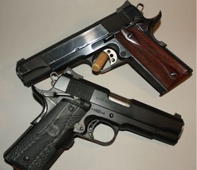 My arsenal has included both five-inch steel frame guns as well as my personal favorite, the 4.25-inch Commander-length version with a lightweight aluminum frame. (PoliceOne Image)