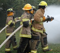 Training Day: Advancing the fire hose line with thermal imaging cameras