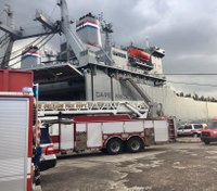 Firefighter injured in fire aboard ship docked at New Orleans Bywater wharf